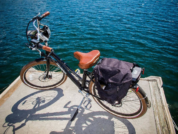 Mission Viejo Photograph - Bike At The End Of The Pier by Vivian Frerichs