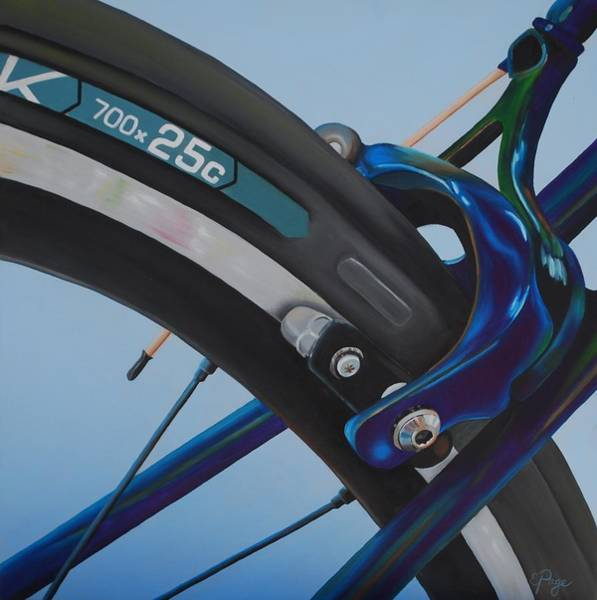 Painting - Bike Brake by Emily Page