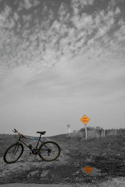 Photograph - Bike Dirt Road by Dylan Punke
