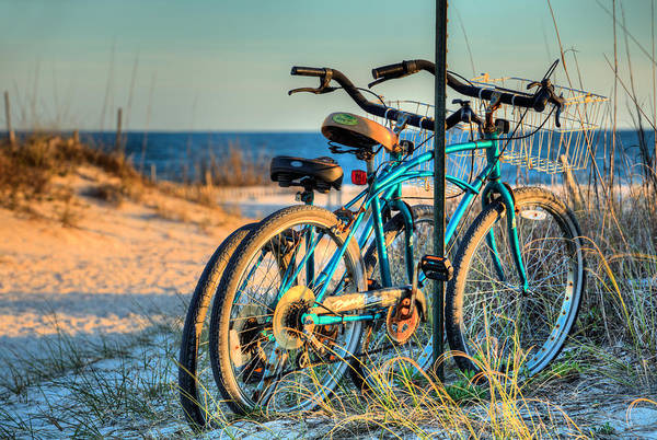 Photograph - Bike Fort Morgan Beaches by JC Findley