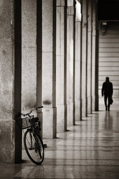 Photograph - Bike In Hallway by Songquan Deng