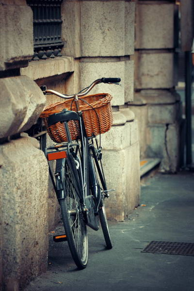 Photograph - Bike In Milan Street by Songquan Deng