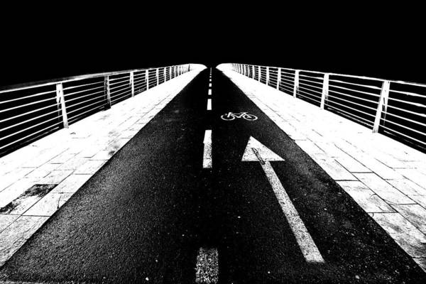 Photograph - Bike Lane Bridge by Ivan Slosar