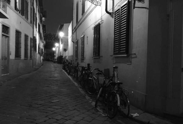 Photograph - Bike Lined Alley by Chris Alberding