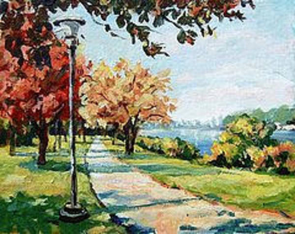 Painting - Bike Path by Ingrid Dohm