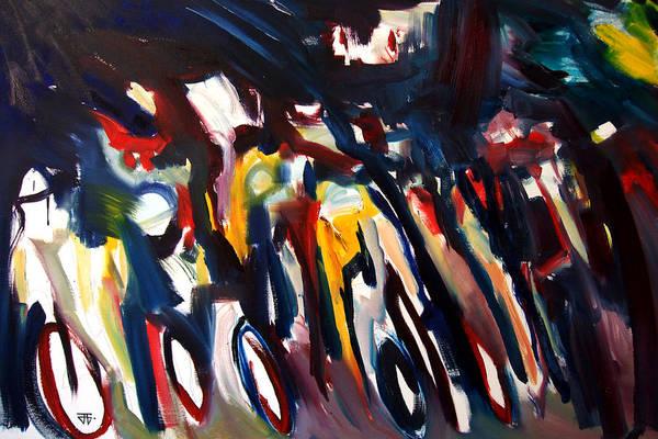 Painting - Bike Race Energy by John Jr Gholson