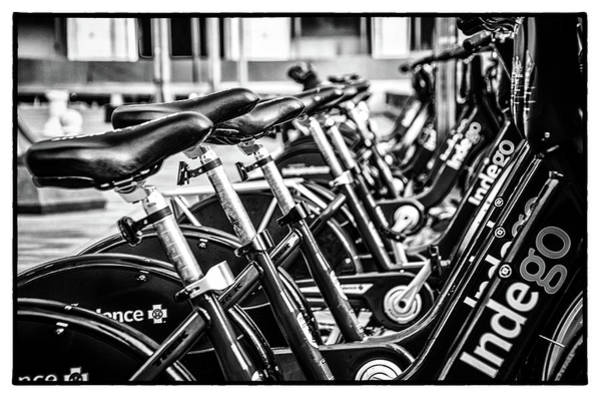 Wall Art - Photograph - Bike Rental In Black And White by Bill Cannon