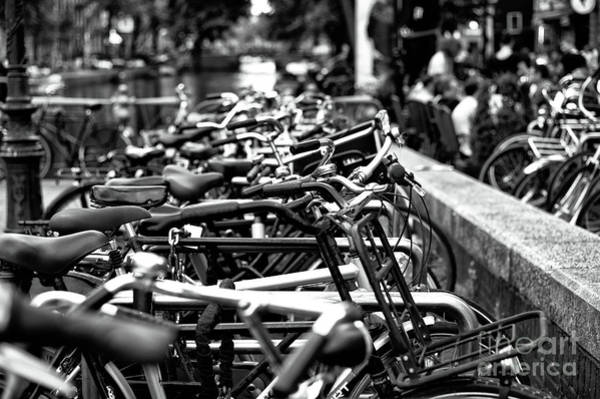 Photograph - Bike Row Mono by John Rizzuto