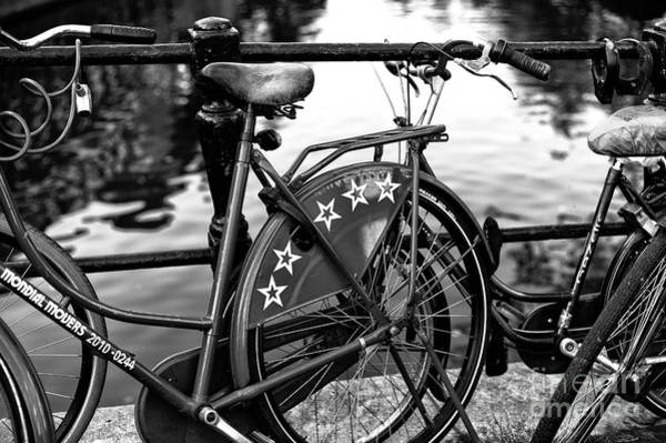 Photograph - Bike Stars Mono by John Rizzuto