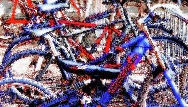 Fun Wall Art - Photograph - Bike Tangle 2  - Americana by Steve Ohlsen