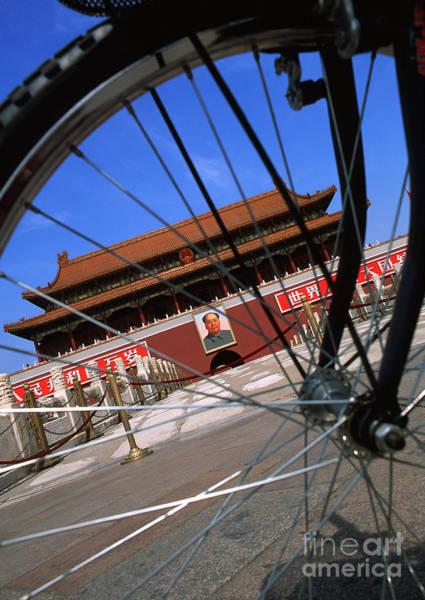 Wall Art - Photograph - Bike Tianamen Gate by Bill Bachmann - Printscapes