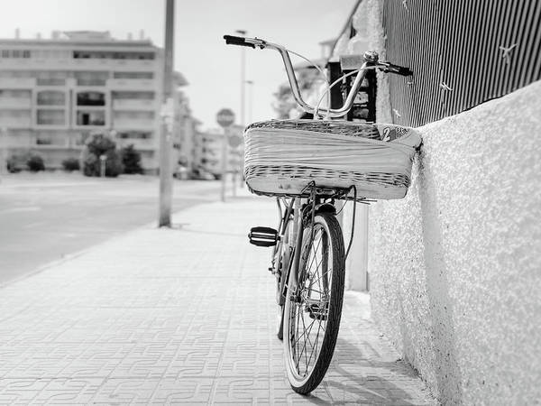 Photograph - Bike With Basket by Gary Gillette