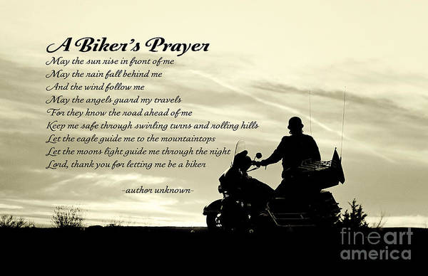 Biker's Prayer Art Print