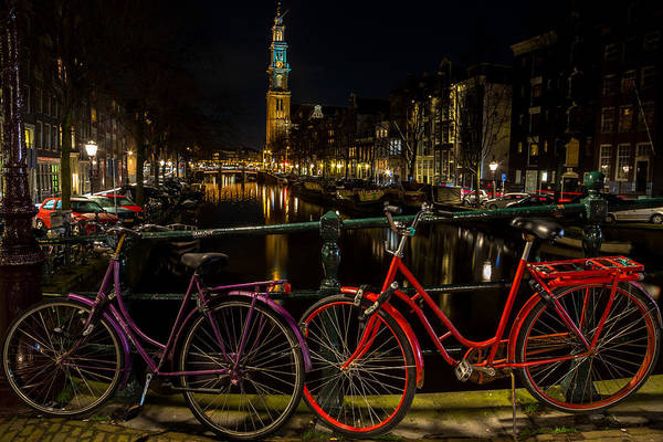 Prinsengracht Photograph - Bikes Over The Prinsengracht by John Daly