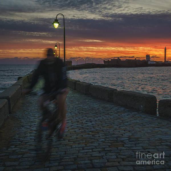 Photograph - Biking At Dusk Cadiz Spain by Pablo Avanzini