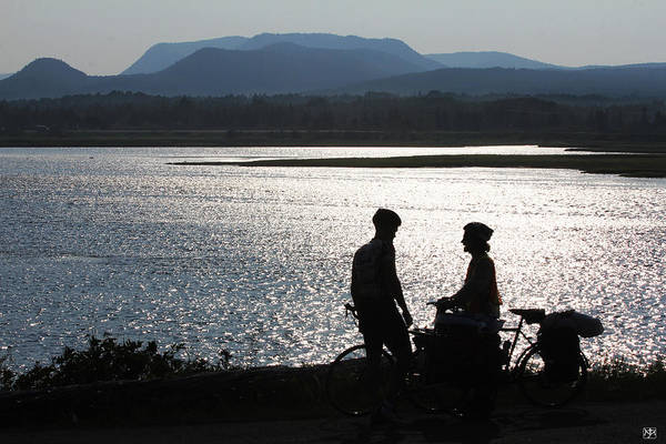 Photograph - Biking Gaspe by John Meader