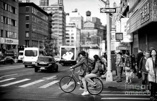 Photograph - Biking On Canal Street by John Rizzuto