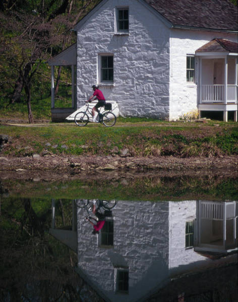 Photograph - Biking On The Towpath by Samuel M Purvis III