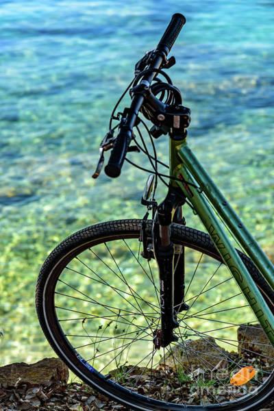 Biking The Rovinj Coastline - Rovinj, Istria, Croatia Art Print