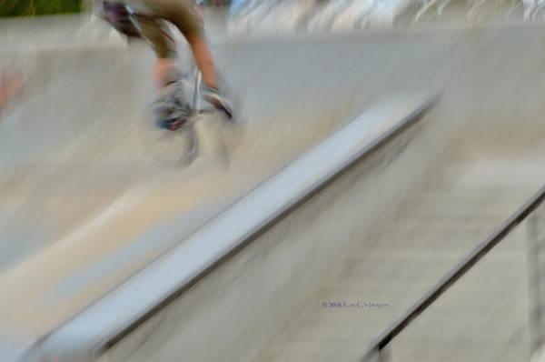 Photograph - Biking The Skateboard Park 2 by Kae Cheatham
