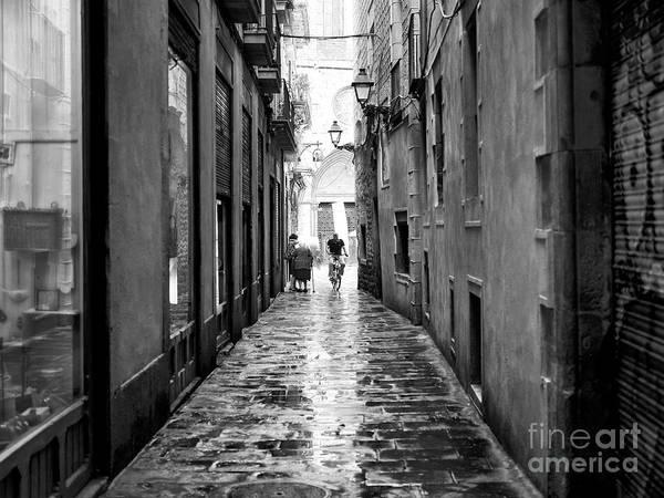 Photograph - Biking Through Barcelona by John Rizzuto