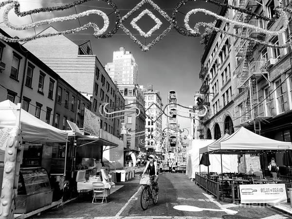 Photograph - Biking To The Feast New York City by John Rizzuto