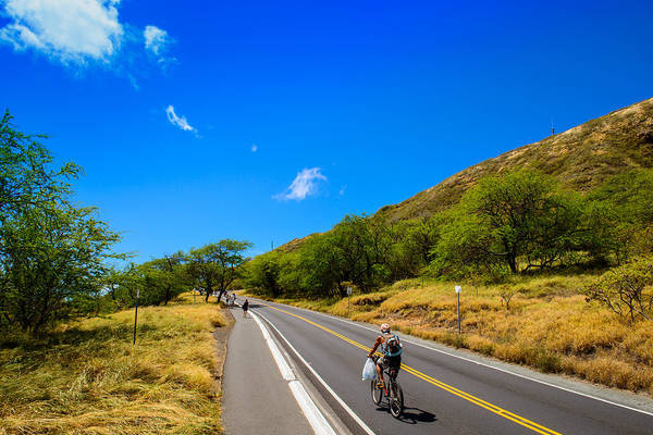 Photograph - Biking Up Diamond Head by Michael Scott
