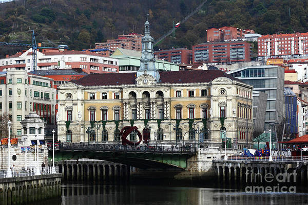 Photograph - Bilbao Town Hall Basque Country Spain by James Brunker
