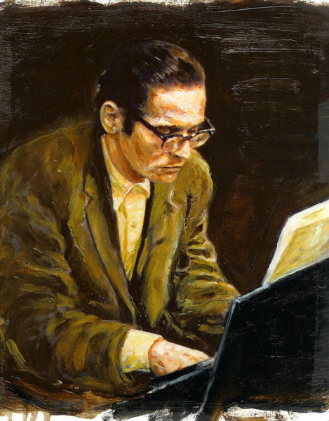 Wall Art - Painting - Bill Evans by Rudy Browne