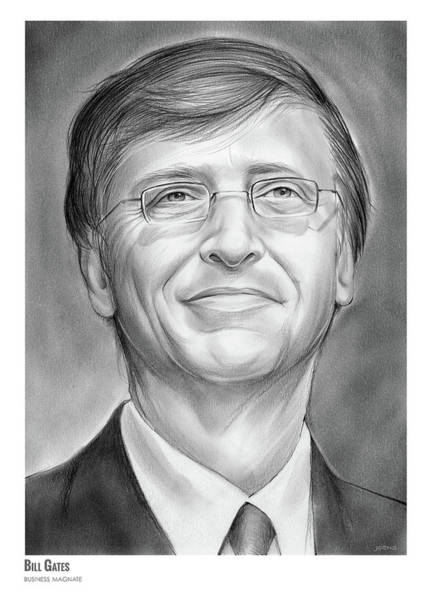 Wall Art - Drawing - Bill Gates by Greg Joens