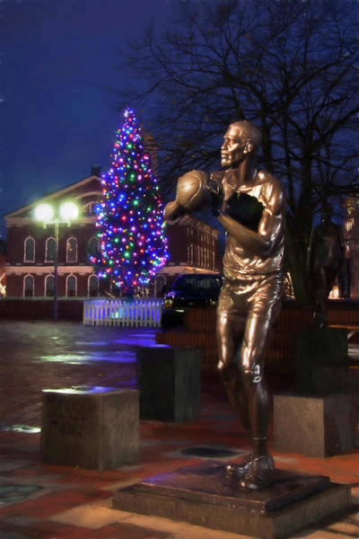 Photograph - Bill Russell Statue - Boston by Joann Vitali