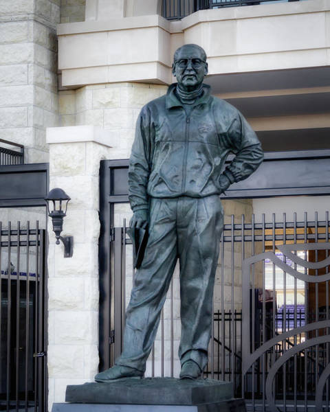 Kansas State University Photograph - Bill Snyder Statue by James Barber