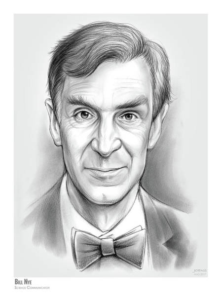 Science Wall Art - Drawing - Bill The Science Guy by Greg Joens