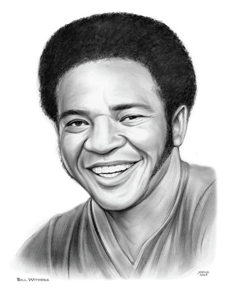 Bills Wall Art - Drawing - Bill Withers by Greg Joens