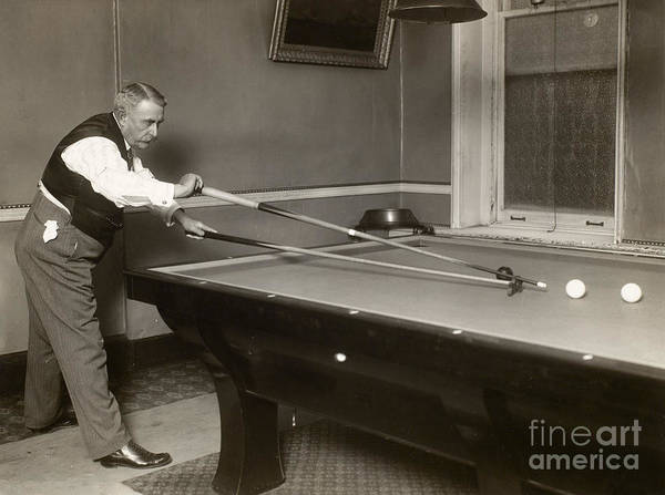 Photograph - Billiard Player, C1907 by Granger