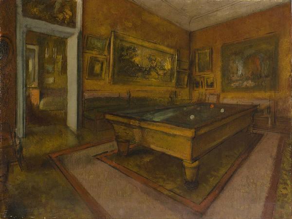 Painting - Billiard Room by Edgar Degas
