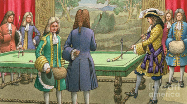 Tapestry Painting - Billiards, As Played By Louis Xiv At Versailles by Pat Nicolle