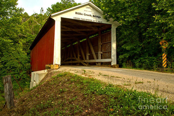Village Creek Photograph - Billie Creek Covered Bridge by Adam Jewell