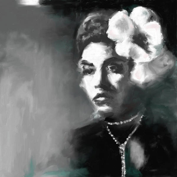 Wall Art - Painting - Billie Holiday 4 by Mawra Tahreem