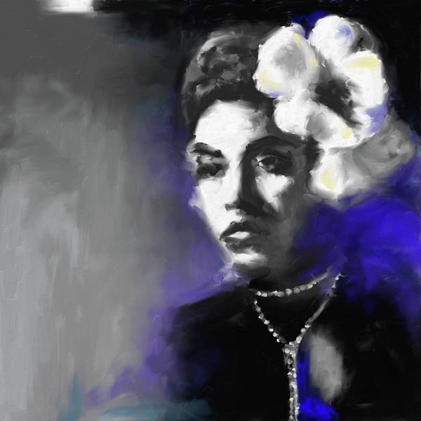 Wall Art - Painting - Billie Holiday 549 1 by Mawra Tahreem