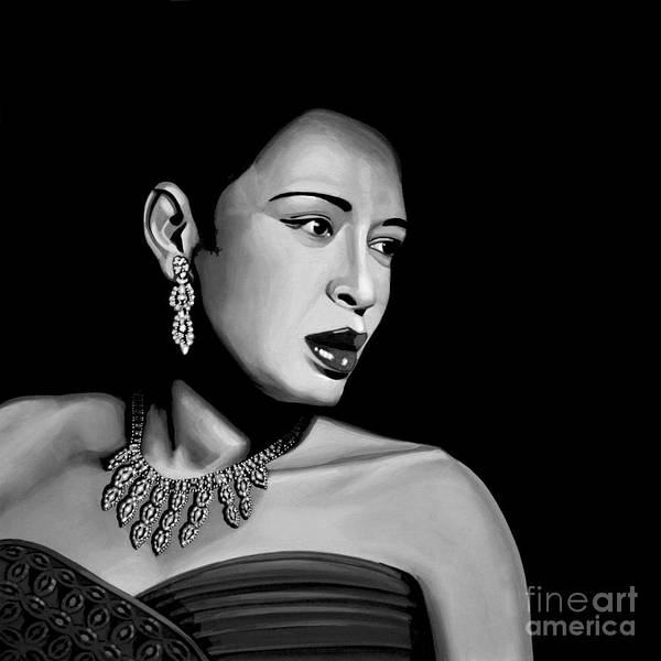 Louis Mixed Media - Billie Holiday by Meijering Manupix