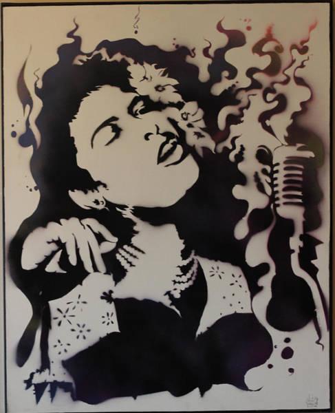 Streetart Mixed Media - Billie Holiday by Michael Carter