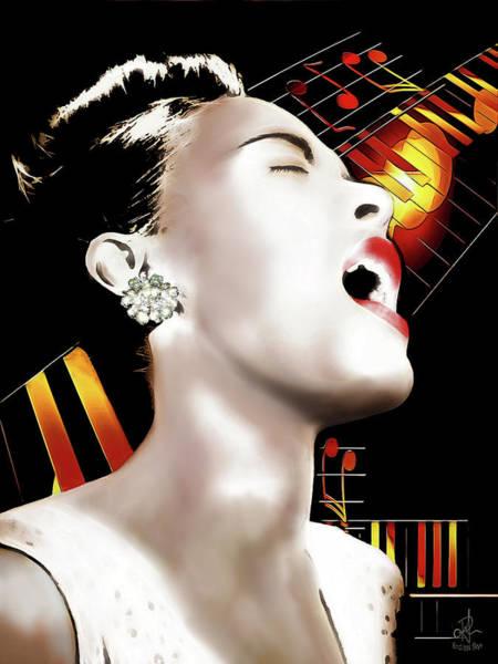 Digital Art - Billie Holiday by Pennie McCracken