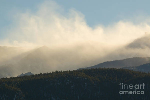 Photograph - Billowing Snow On Pikes Peak Colorado by Steve Krull