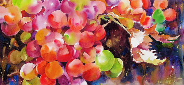 Painting - Bill's Delicious Old Fashioned Grapes by David Lobenberg
