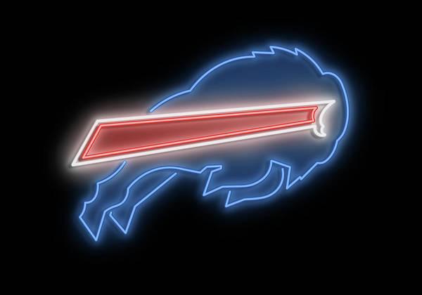 New Trend Digital Art - Bills Neon Sign by Ricky Barnard
