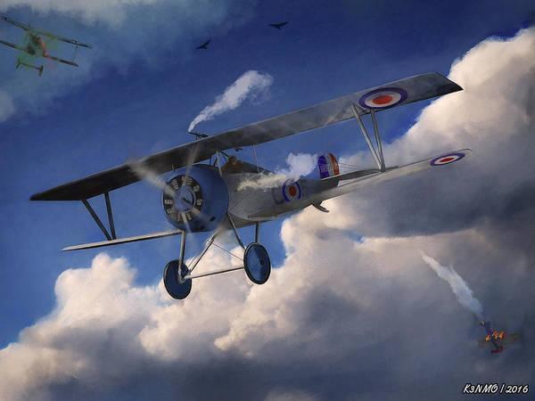 Ken Morris Digital Art - Billy Bishop - Wwi Ace Pilot by Ken Morris
