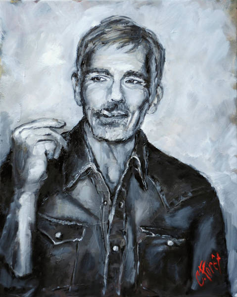 Wall Art - Painting - Billy Bob Thornton by Carole Foret