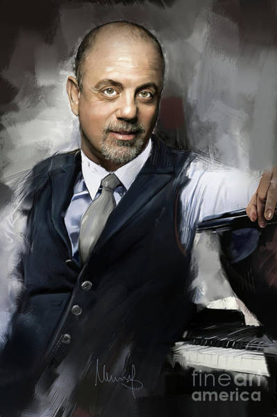 Wall Art - Painting - Billy Joel by Melanie D