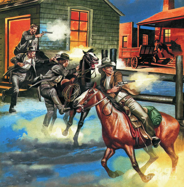 Gunfight Wall Art - Painting - Billy The Kid  The Infamous Gunman by Ron Embleton